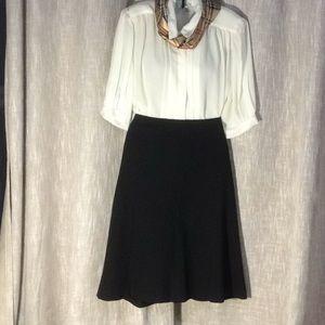 Skirt - LOFT - Basic Black Flare Skirt - SZ 10